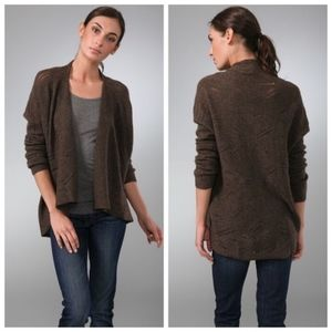 Vince Draped Open Cardigan Yak Hair Wool